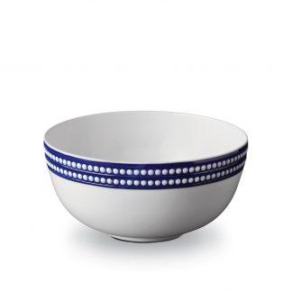 L Objet Perle Bleu Serving Bowl
