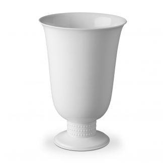 L Objet Perle White Footed Vase