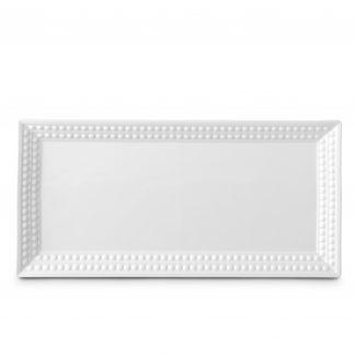 L Objet Perle White Rectangular Platter
