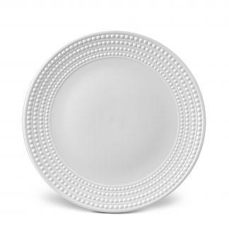 L Objet Perle White Round Platter