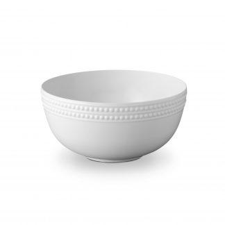 L Objet Perle White Serving Bowl