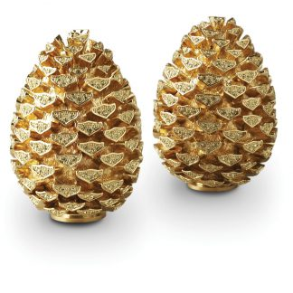 L Objet Pinecone Gold Yellow Crystals