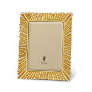 L Objet Ray Gold White Crystals