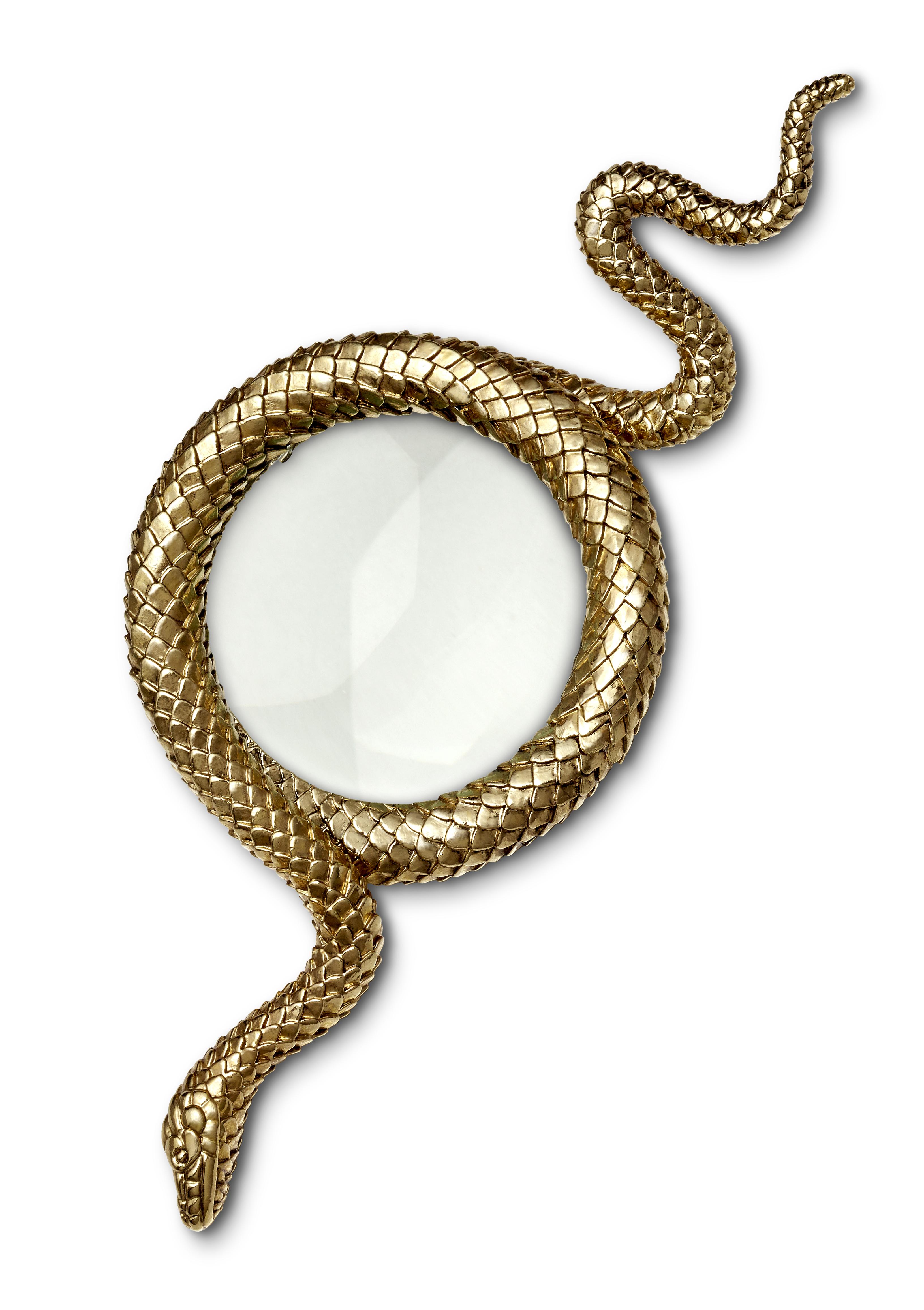 l objet snake gold magnifying glass large