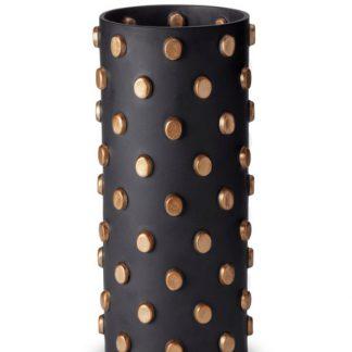 L Objet Teo Black And Gold Vase Large