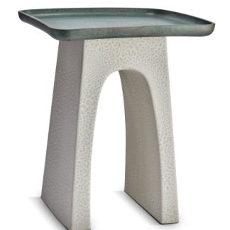 L Objet Tulum Square Side Table Grey And Green