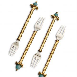 L Objet Venise Cutlery Cocktail Forks Set Of 4
