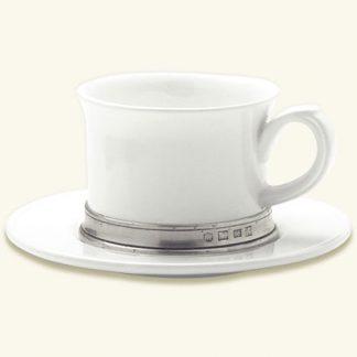 Match  Convivio Cappuccino Or Tea Cup With Saucer