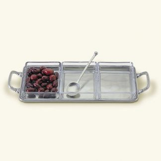 Match  CruditŽ Tray With Handles