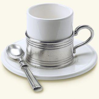 Match  Espresso Cup With Ceramic Saucer