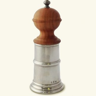 Match  Wood & Pewter Pepper Mill