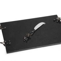 Michael Aram Black Orchid Cheese Board And Knife