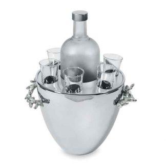 Michael Aram Ocean Coral Vodka Serviceice Bucket