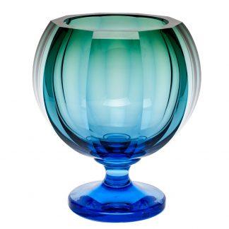 Moser Kingdom Footed Vase