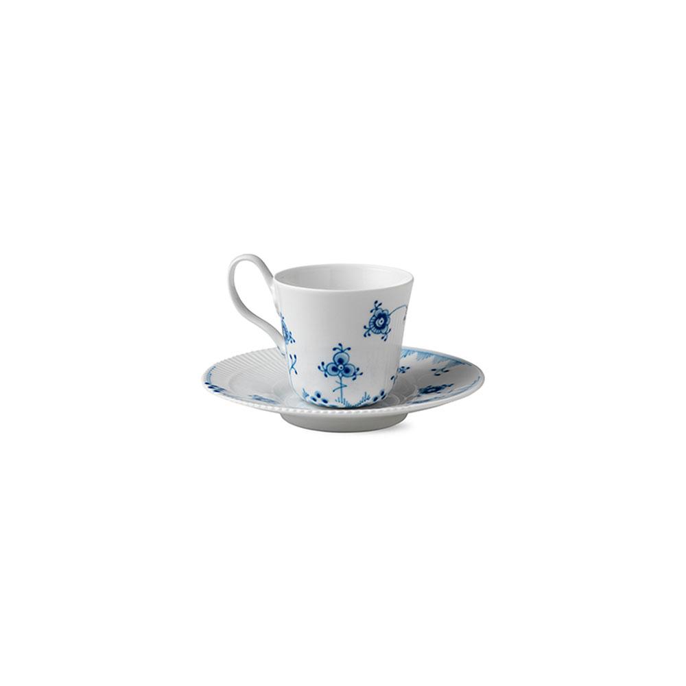 royal copenhagen blue elements high handle cup and saucer. Black Bedroom Furniture Sets. Home Design Ideas