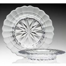 Crystal Philippine Dish Decanter Stand