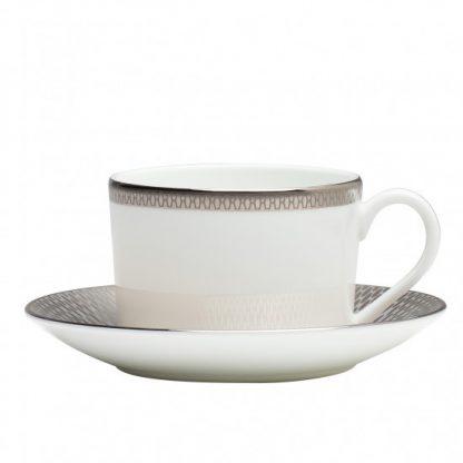 Waterford Aras Grey Teacup & Saucer Set