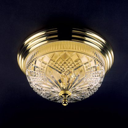Waterford Ceiling Fixtures Beaumont Polished Brass 17in Ceiling Fixture
