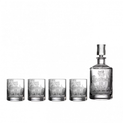 Waterford Crest Barware Collection Crest Decanter & Tumbler