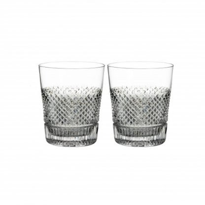 Waterford Diamond Line Double Old Fashioned