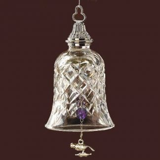 Waterford Fourth Edition - Four Calling Birds Bell Powerscourt Pattern Ornament