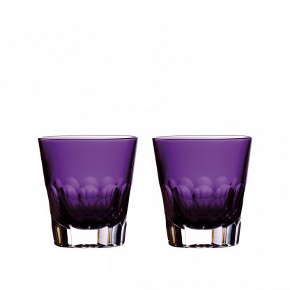 Waterford Jeff Leatham Icon Icon Amethyst Double Old Fashioned Pair