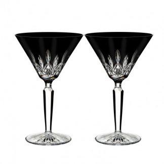 Waterford Lismore Black Martini