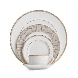 Waterford Lismore Diamond Gold 5-Piece Place Setting