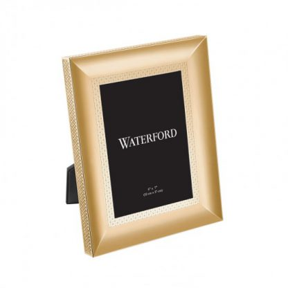 Waterford Lismore Diamond Gold 5x7 Frame