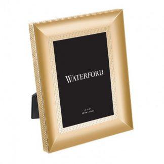 Waterford Lismore Diamond Gold 8x10 Frame