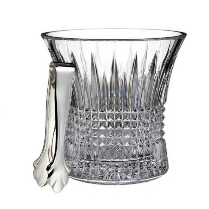 Waterford Lismore Diamond Lismore Diamond Ice Bucket With Tongs