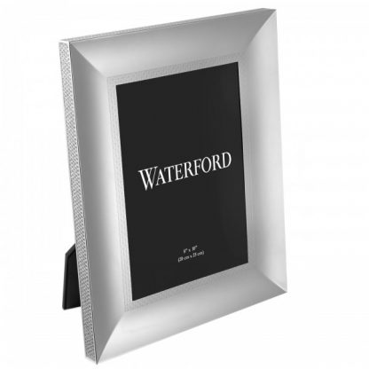Waterford Lismore Diamond Silver 8x10 Picture Frame