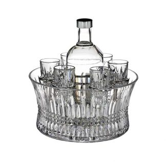 Waterford Lismore Diamond Vodka Set With Chill Bowl