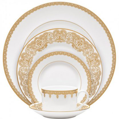 Waterford Lismore Lace Gold Lismore Lace Gold 5-Piece Place Setting