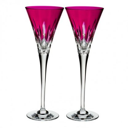 Waterford Lismore Pops Hot Pink Toasting Flute
