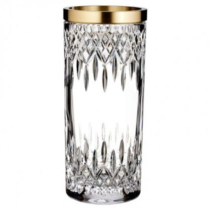 Waterford Lismore Reflection With Gold Band 12in Vase