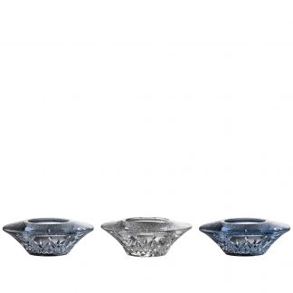 Waterford Lismore Votive Set Of 3 Topaz Ombre Mix