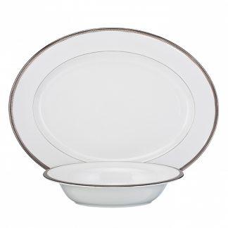 Waterford Short Stories Aras Dinnerware Aras Grey Serving Set