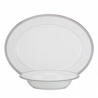 Waterford Short Stories Olann Dinnerware Olann Platinum Serving Set