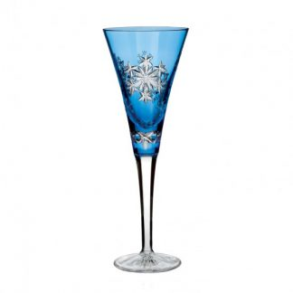 Waterford  Snowflake Wishes 2013 Wishes For Goodwill Kerry Light Blue Prestige Flute