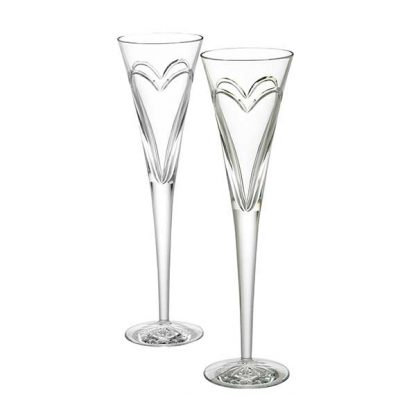 Waterford Toasting Flutes Wishes Love & Romance Toasting Flute